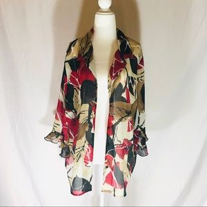 Alfred Dunner Button Up Print Blouse Size 16W